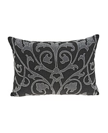 Sophia Traditional Grey Pillow Cover With Down Insert
