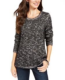 Marled Eyelash-Texture Sweater, Created For Macy's