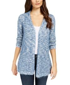 Style & Co Marled Eyelash-Knit Cardigan, Created For Macy's