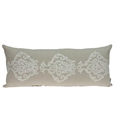 Parkland Collection Georgia Transitional Beige Pillow Cover With Poly Insert