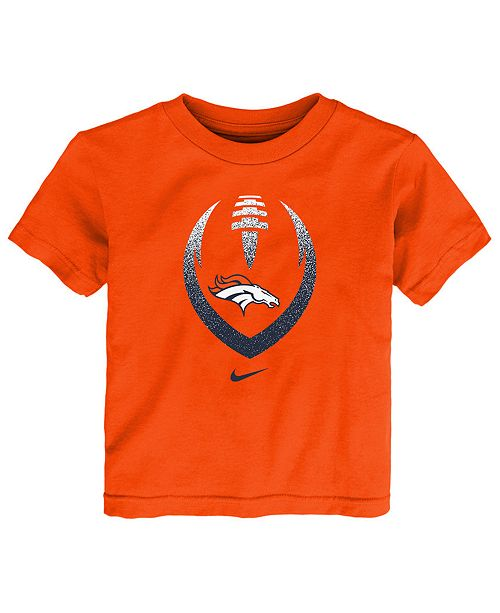 Nike Little Boys Denver Broncos Football Icon T-Shirt