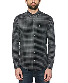 Men's Slim-Fit Check Oxford Shirt