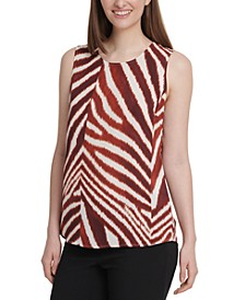 Zebra-Print Sleeveless Top