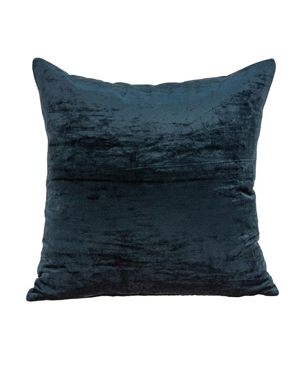 Parkland Collection Kyan Transitional Dark Blue Solid Pillow Cover with Polyester Insert