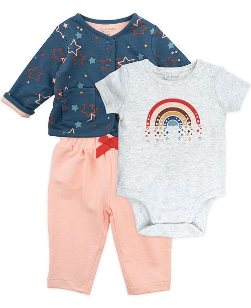 Mac & Moon Baby Girl 3-Piece Outfit Set