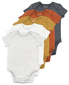 Baby Boy and Girl 5-Pack Short Sleeve Bodysuits