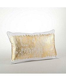 "Metallic Banded Design Pillow, 12"" x 20"""