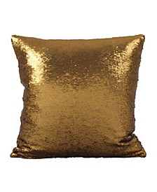 "Sirun Sequin Mermaid Design Throw Pillow, 18"" x 18"""