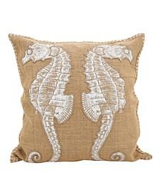 """Seahorse Throw Pillow, 20"""" x 20"""""""