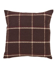 """Polyester Throw Pillow with Plaid Flannel Design, 18"""" x 18"""""""
