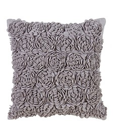 "Flower Throw Pillow - Cover Only, 17"" x 17"""