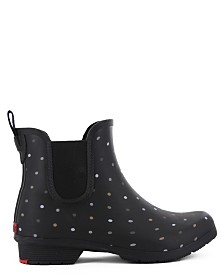 Chooka Women's Tonal Dot Chelsea Ankle Rain Boot