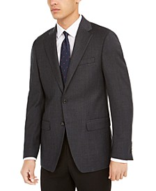 Men's Slim-Fit Mini-Check Wool Sport Coat