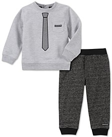 Baby Boys 2-Pc. French Terry Top & Pants Set