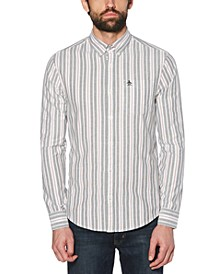 Men's Slim-Fit Striped Oxford Shirt