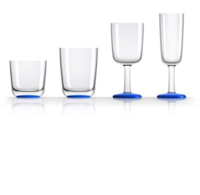 by Palm Tritan Highball Tumbler with Klein Blue non-slip base, Set of 2