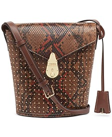 Snake Lock Bucket Bag