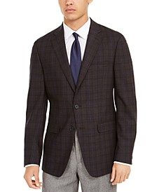 Men's Slim-Fit Plaid Sport Coat