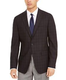 Calvin Klein Men's Slim-Fit Plaid Sport Coat