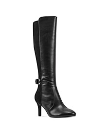 Delfie Pointy Toe Tall Dress Boots