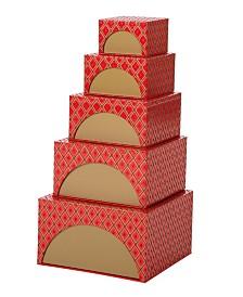 Glitzhome 5 Piece Gift Box Set