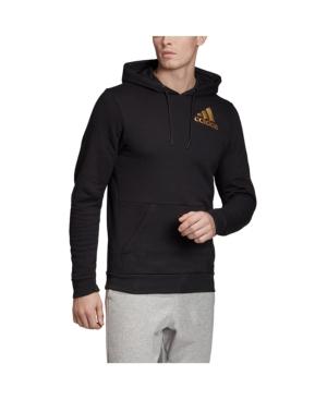 Adidas Originals T-shirts MEN'S METALLIC BADGE OF SPORT FLEECE PULLOVER SWEATSHIRT