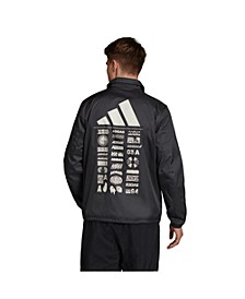 Men's Bold Back Graphic Coaches Jacket