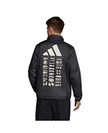Adidas Men's Bold Back Graphic Coaches Jacket