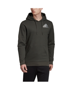 Adidas Originals T-shirts MEN'S METALLIC BADGE OF SPORT FLEECE PULLOVER SWEATSHIRT