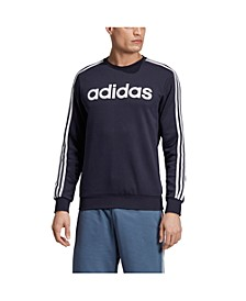 Men's Essentials 3-Stripes Fleece Logo Crew
