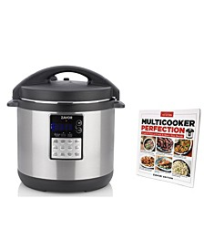 LUX Edge 6-Qt. Multi-Cooker with Americas Test Kitchen Multi-Cooker Perfection Cookbook