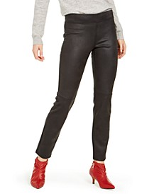 Textured Microsuede Leggings