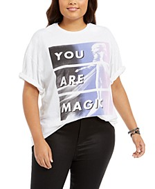 Trendy Plus Size Cotton You Are Magic Boyfriend T-Shirt