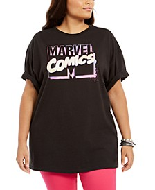 Trendy Plus Size Cotton Marvel Comics Boyfriend T-Shirt