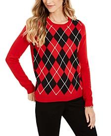 Argyle Crewneck Sweater, Created For Macy's