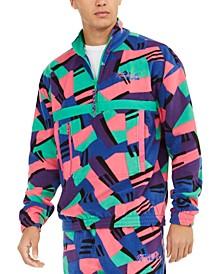 Men's Nepal Half-Zip Fleece Retro Print Sweatshirt