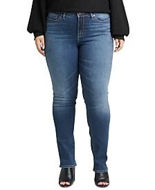 Silver Jeans Co. Plus Size Straight-Leg Jeans