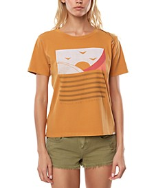 Juniors' Cotton Sweet Sets Graphic-Print Boyfriend T-Shirt