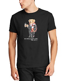 Polo Ralph Lauren Men's Jersey Cotton Cocoa Polo Bear T-Shirt