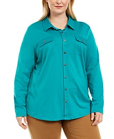 Plus Size Polo-Style Shirt, Created for Macy's
