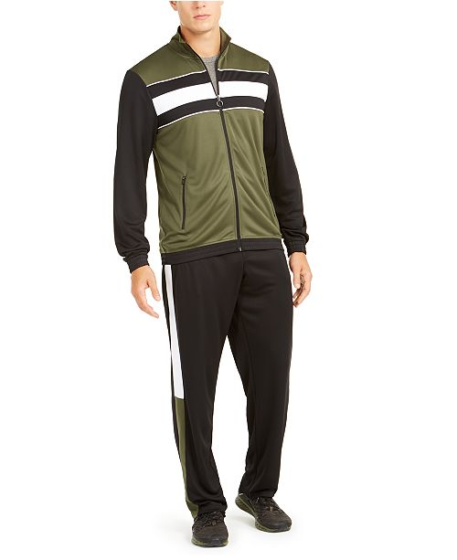 Ideology Men's Colorblocked Track Jacket & Pants, Created for Macy's