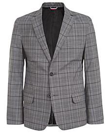Big Boys Stretch Windowpane Plaid Suit Jacket