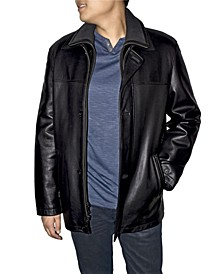 Retro Leather Men's Double Collar Car Coat