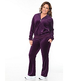 Plus Size Velour 2 Piece Set