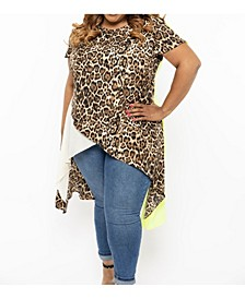 Eleven60 Leopard Lace Top Plus