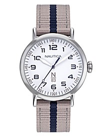 N83 Ladies Wakeland Lady Beige, White Fabric Strap Watch 40mm