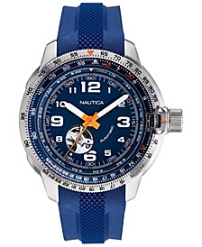 Men's Mission Bay Automatic Blue, Orange Silicone Strap Watch Box Set 46mm