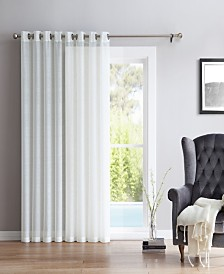 "Lucido By HLC.me Perth Semi Sheer Grommet Patio Door Panel - 100"" W X 84"" L"