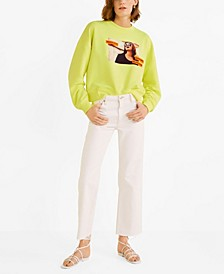 Printed Fluor Sweatshirt