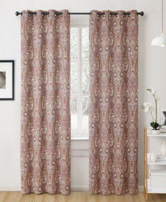 Obscura by Melton Paisley Blackout Grommet Curtain Panels - 50 W x 84 L - Set of 2